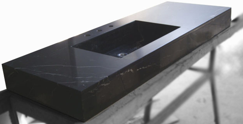 Ba os stone control mar del plata - Piso marmol negro ...